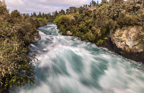 waterfall hukafalls newzealand rapids