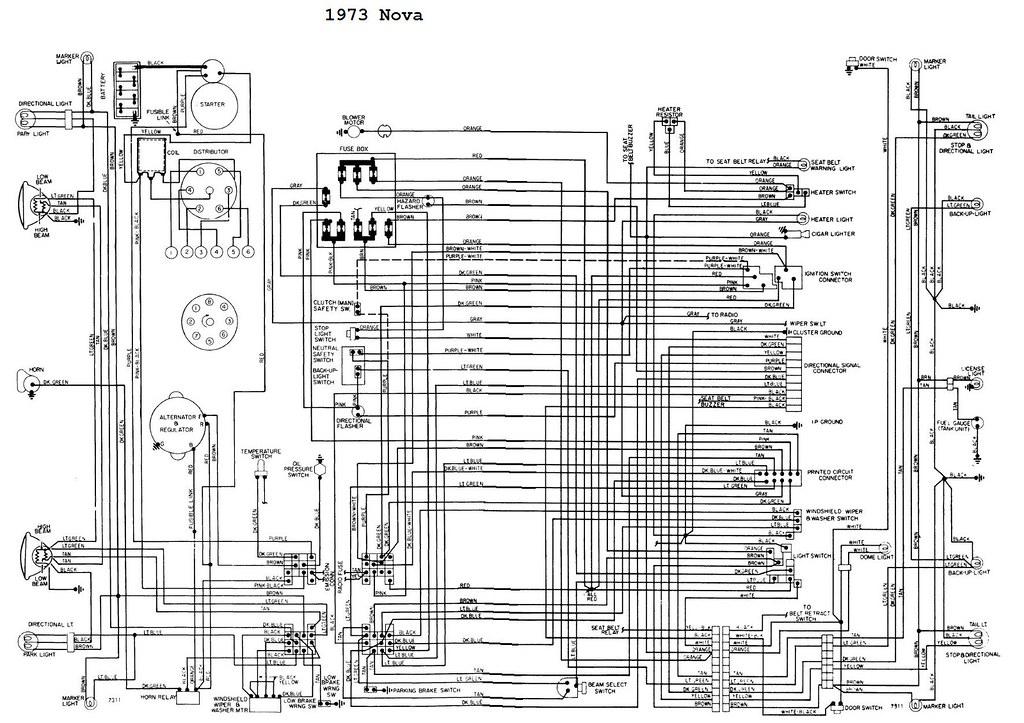 1973 Chevrolet Nova Wiring Diagrams