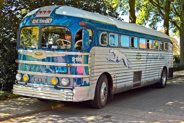 GMC PD 415i Greyhound Lines Bus 1948 (0344)
