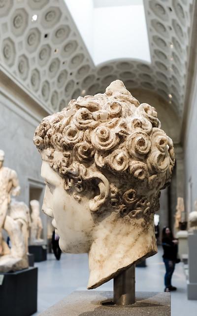 Marble head of an athlete, ca. A.D. 138–192