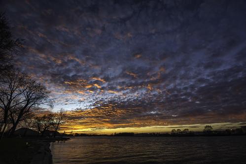 fireinthesky sky sunset saginawriver river michigan clouds skyscape tacphotography d7100 tomclarknet