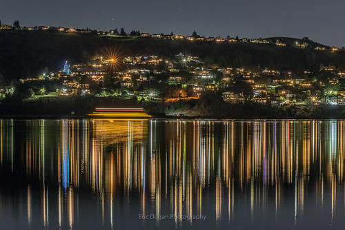 crockett reflections twilight christmastree water carquinezstrait citylights