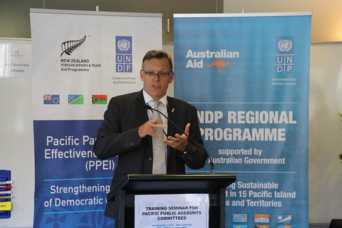 Assistant Secretary of the Pacific and Development Group of the New Zealand Ministry of Foreign Affairs and Trade (MFAT), Andrew Needs | by Effective Governance - UNDP Pacific Office