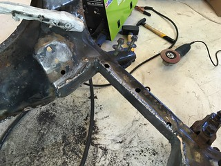 161 - oem subframe modified with 3mm steel | by justas.gudavicius