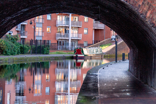 Birmingham Canals with Barge