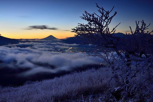 富士山 高ボッチ 朝景 長野 fujisan mtfuji suwako takabocchi morning nagano
