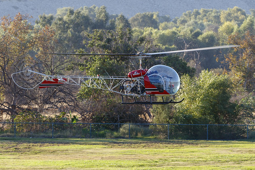 helicopter aircraft americanheroesairshow airshow hansendam california socal 2017 bell 47d1 n9421h