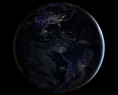 Full-Hemisphere Views of Earth at Night | by NASA on The Commons