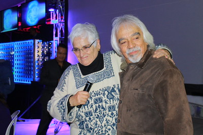 Hortensia Fernández y Guillermo Briseño en la fiesta del 45 aniversario del Centro Freinet Prometeo