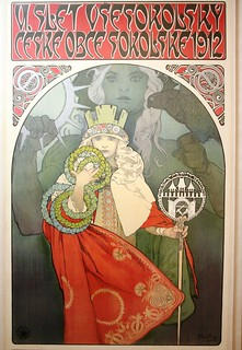 Mucha poster for 6th Sokol Festival with Czech nationalist theme | by rob.mcgonigle