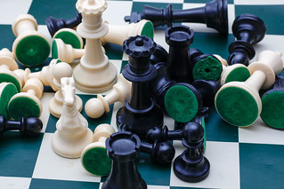 Chess Game Pieces Close-Up | by wuestenigel