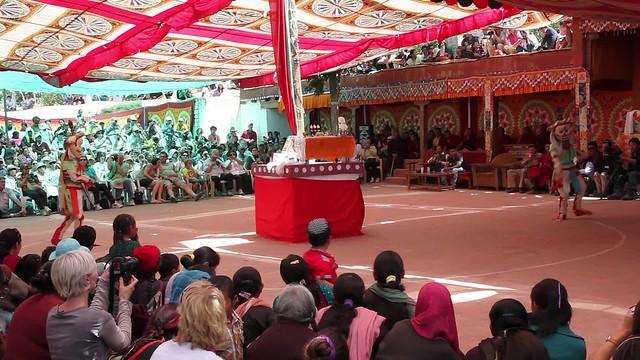 Sacred buddhist dances - Festival at Takthok Monastery, a Nyingmapa monastery - Ladakh, Northern India