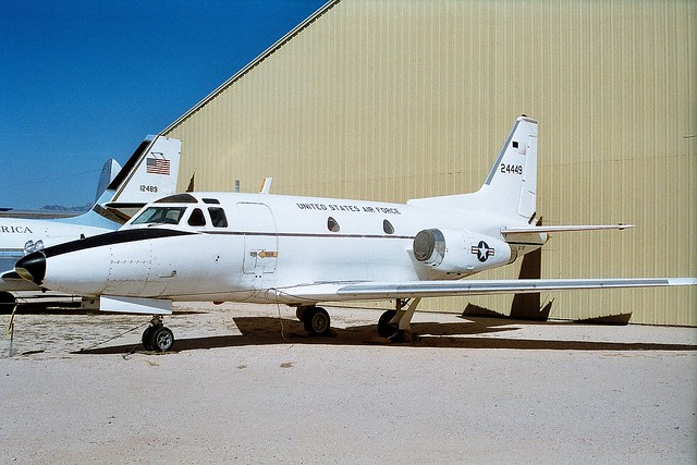 CT-39A Sabreliner 62-4449 ex 1402nd MAS USAF. Preserved Pima, Air & Space museum, Tucson, Arizona. October 1995.