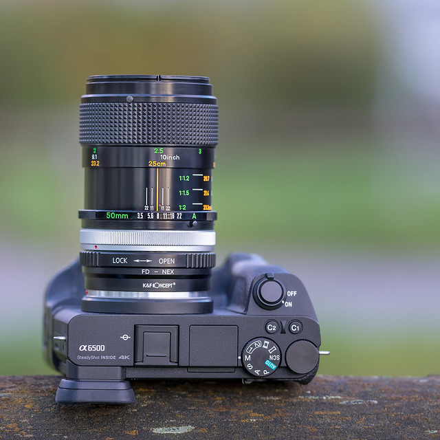 Canon FD 50mm ƒ/3.5 Macro S.S.C. on SONY ⍺6500