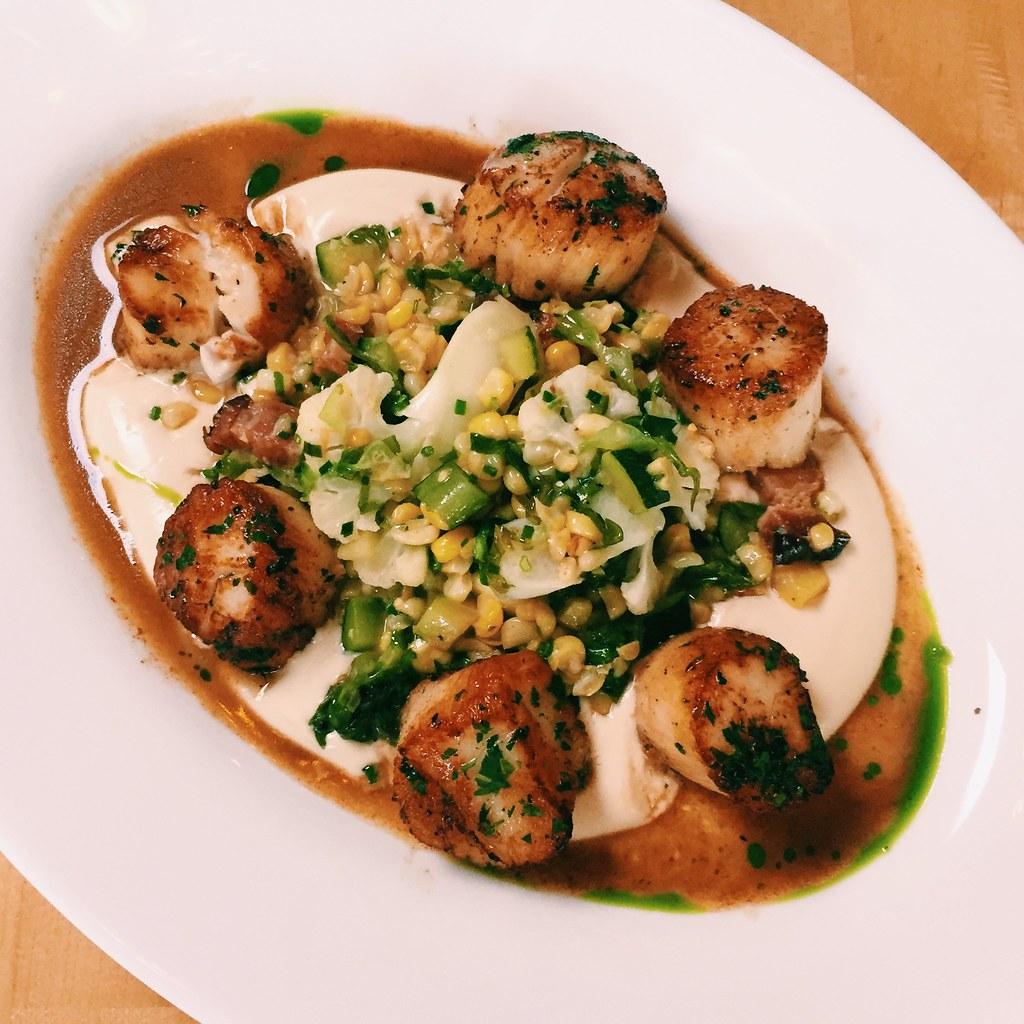 Scallops | Taken at 5 Corners Kitchen in Marblehead, MA ...