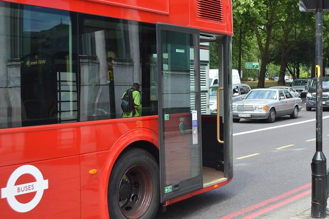 The modified rear door of Arriva London New Routemaster LT 534 (LTZ 1534) [Explored]