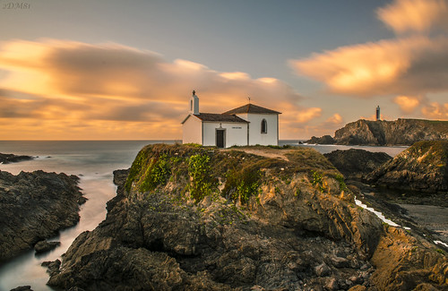 longexposure sunset sea costa lighthouse seascape landscape faro mar nikon shoreline goldenhour ermita largaexposición meirás ferrolterra virxedoporto nikond5100 goldenbreeze
