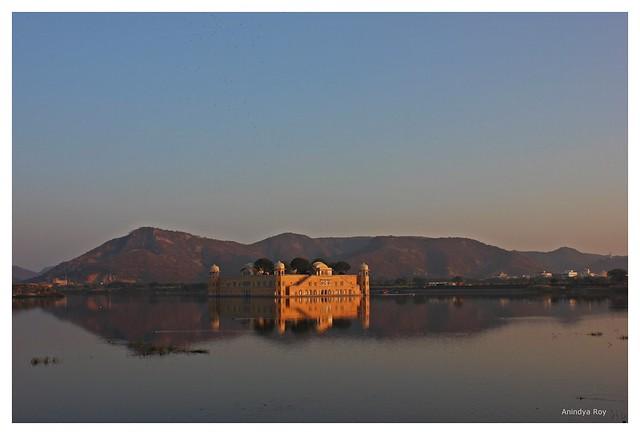 Reflected glory,Jal mahal,Jaipur