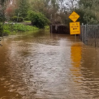 Los Gatos Creek Trail flooding | by Richard Masoner / Cyclelicious