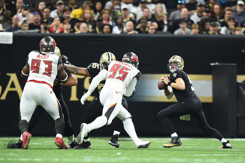 Gerald McCoy #93, Drew Brees #9