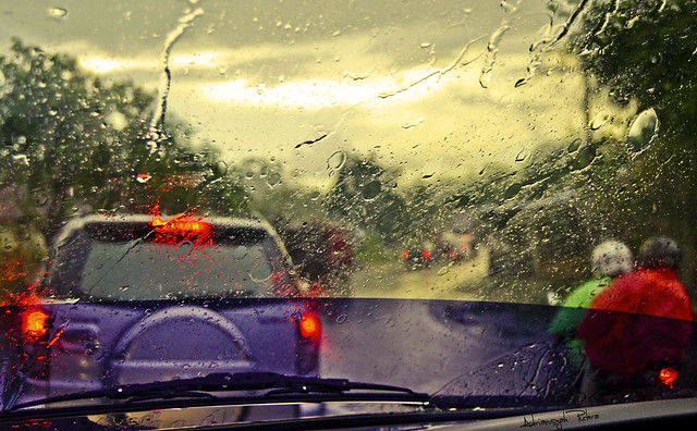Driving On Rainy Sumatra Days
