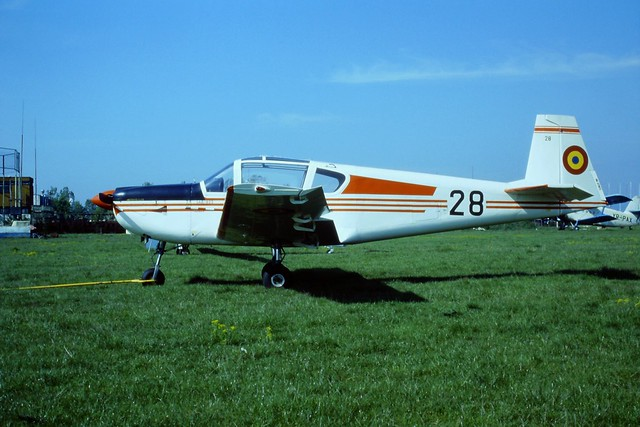 IAR-823 28 Romanian-AF/ FAR. Brasov-Ghimbav Airfield, Romania. 09-05-1999.
