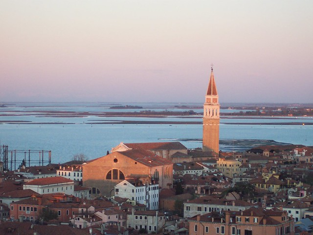 Sunset over the Venetian lagoon