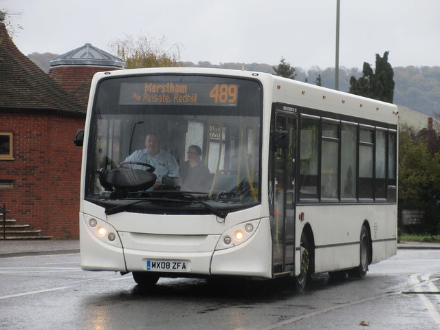 Buses Excetera MX08ZFA On Route 489 At Dorking Leisure Centre