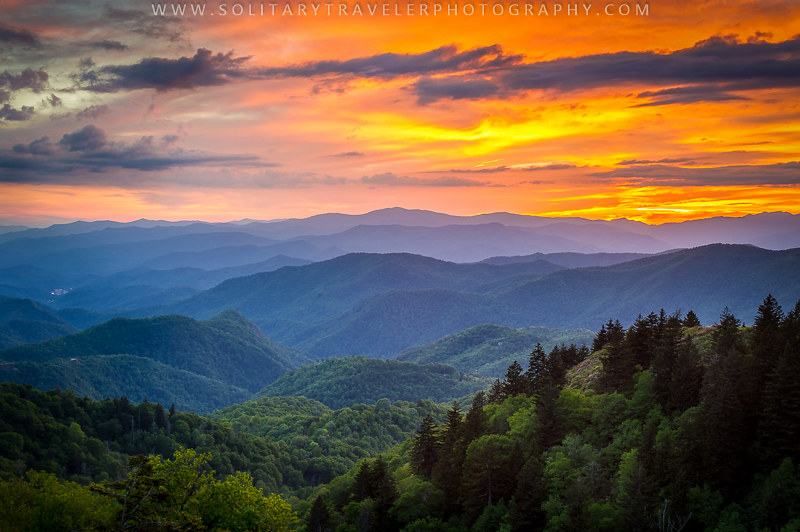Blue Ridge Parkway Nc Smoky Mountain Sunset Scenic Flickr
