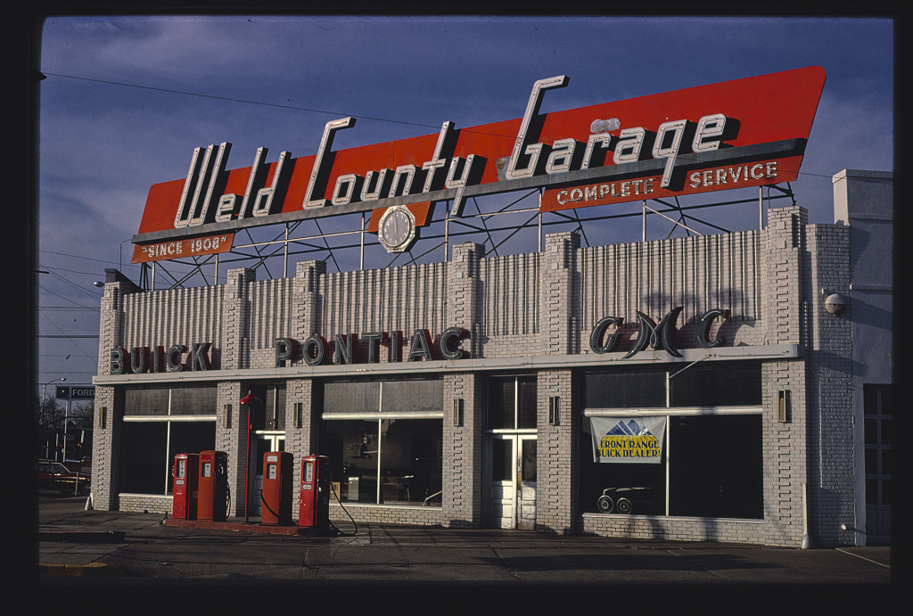Weld County Garage (and gas station), Routes 85 & 34, Greeley, Colorado (LOC)