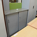 Medium metal sliding door unit