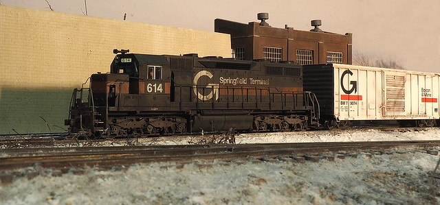 Guilford Rail SD35 on the main