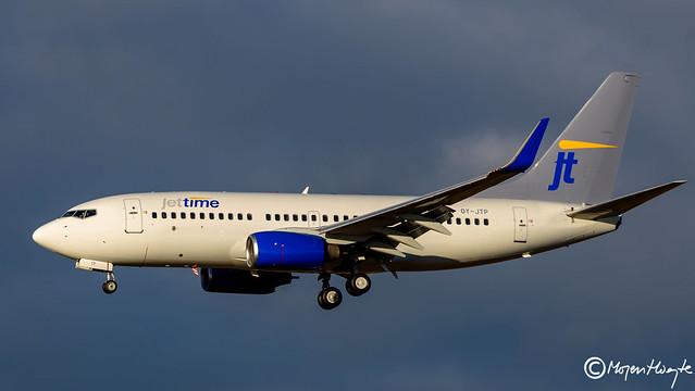 Jettime, Boeing 737-79L(WL), OY-JTP, 34022, December 2017