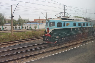 North Korean engine at Sinanju train station | by Timon91
