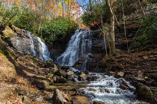 appalachia appalachianautumn blueridgemountains northcarolina soccofalls waterfall
