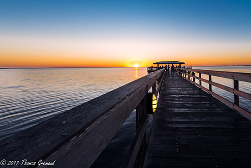 blue sunrise tampabay pier water sky safetyharbor orange florida