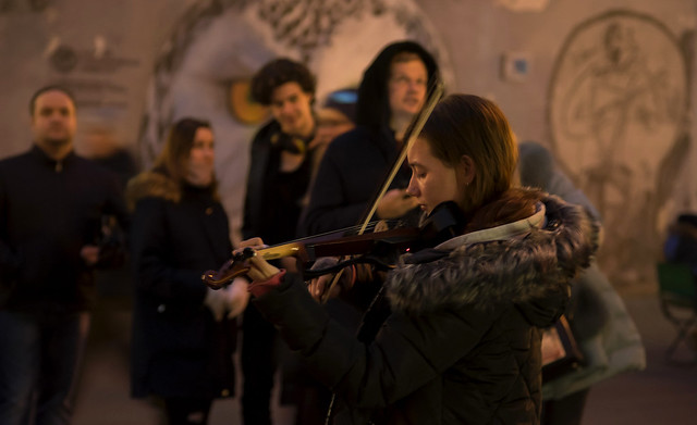 Music of the Moscow streets...