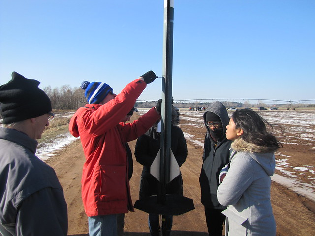 Student participating in Rocketry Club