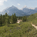 Views of the Tetons from Taggart Lake Trail