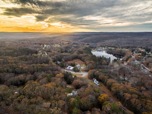 hdr johnsonmillpond connecticut sunset phantom3advanced day dji aerial aerialview moodus drone easthaddam unitedstates us