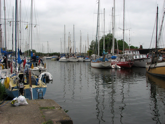 The Blackwater and Chelmer Navigation at Heybridge Basin