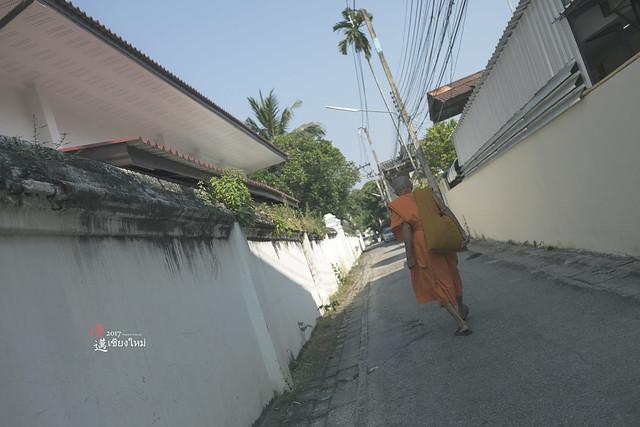 清邁街景 僧侶