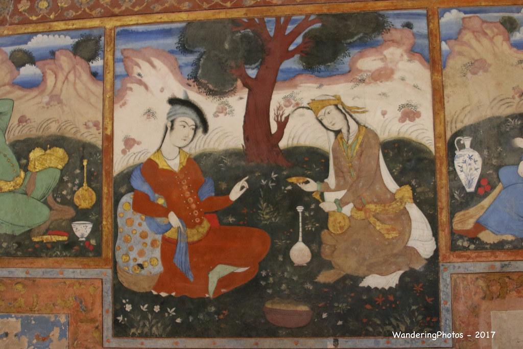 Fresco art - Safavid era (1500 - 1700) - Chehelsotoon Deco… | Flickr