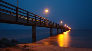 Seebrücke in Lubmin zur blauen Stunde | by tt-karl