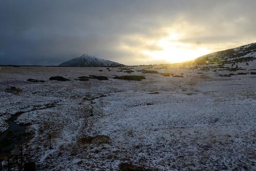 krkonoše sudety karkonosze sněžka sunrise sun clouds