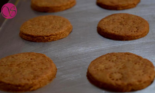 Homemade Atta Biscuits after baking