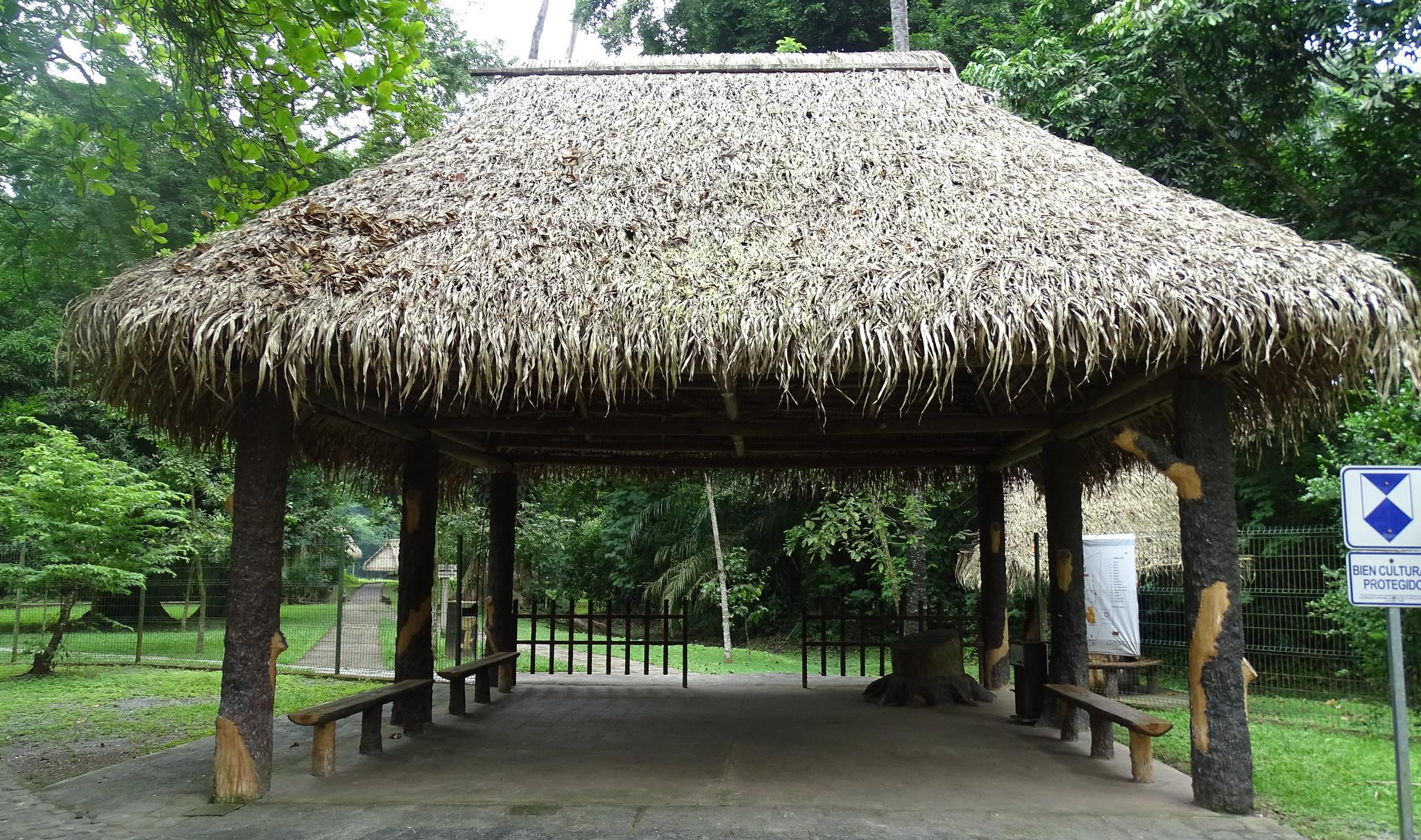 entrada edificios sitio arqueológico Quiriguá Guatemala