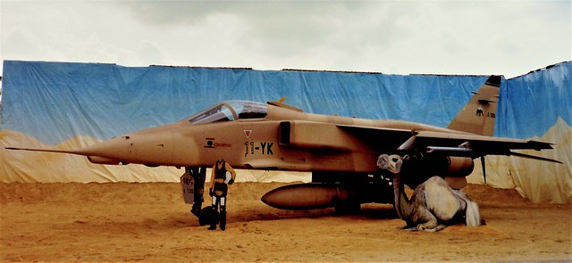 After Opération Daguet, the codename for French operations during the 1991 Gulf War,this Diorama was created during the Portes-Ouvertes at Base Aérienne Saint Dizier-Robinson in 1992. Jaguar-A A-130/11-YK EC-4/11 French-Air-Force/ Armée de l'air.St.Dizier