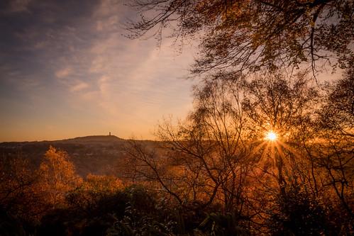 sunrise yorkshire huddersfield kirklees canon eos 1300d efs1018mm dawn morning autumn england unitedkingdom gb
