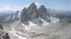 Tre cime di Lavaredo from Monte Paterno, Italian Alps